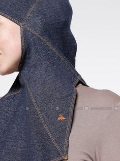 The perfect addition to any Muslimah outfit, shop Capsters's stylish Muslim fashion Jeans Casual Headwear - Dark Blue. Casual Jeans, Jeans Style, Muslim Fashion, Hijab Fashion, Aso Ebi Dresses, Sports Hijab, Ankara Jumpsuit, Hijab Tutorial, Dark Blue
