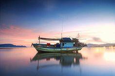Arte Destacada - Barco de pesca tailandés por Teerapat Pattanasoponpong