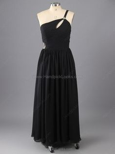 Chiffon One Shoulder  Prom Dresses