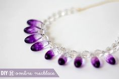 diy clear ombre necklace