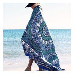 Floral Hippie Mandala Tapestry Wall Hanging Decor Bedspread Beach blanket