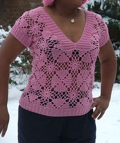 Ravelry: Flowers and Tiles Top pattern by Elena Fedotova