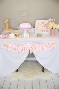 Royal Princess banner Birthday Name banner by InspiredLilParties 1st Birthday Party For Girls, Birthday Name, Gold Birthday, Baby Birthday, Princess Cupcake Toppers, Princess Cupcakes, Shower Banners, Name Banners, Royal Princess