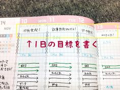 ジブン手帳の使い方「1日の目標を決める」