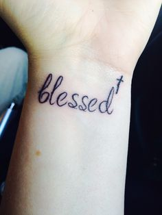 I love my new tattoo! Constant reminder to count my blessings