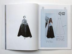 Fashion Sketchbook - printed dress design development - fashion drawings; fashion design process; fashion portfolio // Sabela Tobar