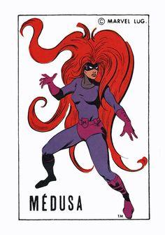 Medusa Inhumans Pin Up Poster Vintage Art Marvel French | eBay