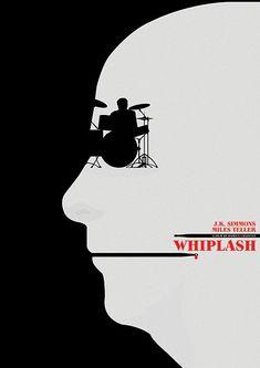 Whiplash ~ Minimal Movie Poster by Matt Needle ~ Oscar Bait 2015 Series Best Movie Posters, Minimal Movie Posters, Minimal Poster, Cinema Posters, Movie Poster Art, Cool Posters, Film Posters, Film Poster Design, Graphic Design Posters