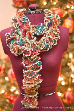 SUPER FUN Flounce Ruffle Scarf  - CHRISTMAS Sale. $25.00, via Etsy.