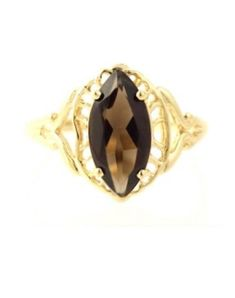 Antique Filigree Style LAB Citrine 925 Sterling Silver Ring Size 9 KN-3319