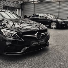 "drivingbenzes: "" Mercedes-Benz C 63 [S] AMG Coupé & Mercedes-Maybach S 600 (Instagram @1ofthose_days) """