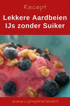 Zelf aardbeien ijs maken is supersimpel! Dit lekkere ijsje maak je met slechts 4 ingrediënten en zonder ijsmachine. Wij vinden dit ijs om te smullen. Je kunt kiezen uit een lactosevrije of een reguliere variant. Maak je lekkere ijsje nu makkelijk zelf! Bekijk het recept op www.cynspirerend.nl Breakfast, Food, Seeds, Morning Coffee, Essen, Meals, Yemek, Eten