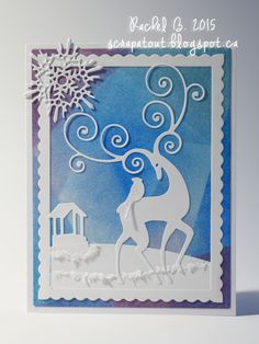 Scrapatout - Handmade card, Winter, Impression Obsession