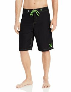 Black Friday Hurley Men's One and Only 22 Inch Boardshort, Black/Neon Green, 32 from Hurley Cyber Monday