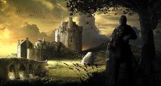 The Forgotten Knight Fantasy Art Fantasy Castle, Fantasy Art, Good Knight, Dark Knight, Medieval World, Medieval Art, Widescreen Wallpaper, Wallpaper Art, Wallpapers