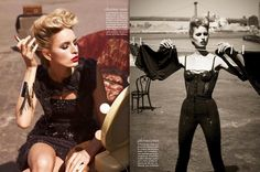 Karolina Kurkova and her teddy is Movie Star Glam for Vogue Mexico's June; hair by David Von Cannon