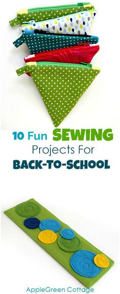 10 fun sewing projects for back to school, with beginner tutorials and PDF sewing patterns. If you'd like to make the first day of school feel really special for your child or grandchild, these easy sewing ideas might be just what you are looking for!