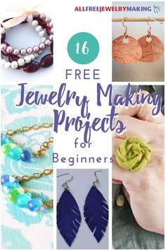 16 Free Jewelry Making Projects for Beginners + 8 Basic Tips - diy jewelry To Sell Ideen Diy Jewelry Projects, Jewelry Making Tutorials, Jewelry Crafts, Jewelry Ideas, Jewellery Making, Jewelry Tools, Beginner Jewelry Making, Wire Crafts, Beading Tutorials