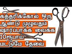 கத்தரிக்கோல் ஒரு ஆண்டு முழுவதும் ஷார்ப்பாக்க வைக்க |Sharpen Scissors in Tamil - YouTube General Knowledge Facts, Pressure Points, Scissors, Reflexology, Youtube, Android, Cleaning, Garden, Garten