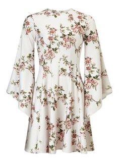 Cherry Blossom Dress - Miss Selfridge White Floral Dress, White Midi Dress, Floral Midi Dress, Floral Dresses, Dress Outfits, Casual Dresses, Fashion Dresses, Floral Fashion, White Going Out Dresses
