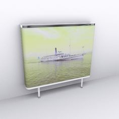 photo of a paddel steamer with soft yellow filter
