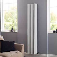 Add contemporary style to any room of your home with the Hudson Reed Templar vertical designer radiator Best Radiators, Column Radiators, Hudson Reed, Designer Radiator, Modern Retro, Contemporary Style, Tall Cabinet Storage, Interior, House