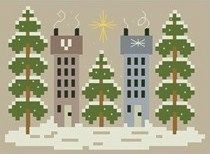 Houses and Trees • Free design to download ❥❥