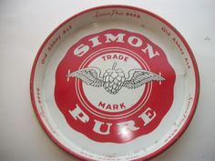 SIMON PURE OLD ABBEY  Beer & Ale Serving tray