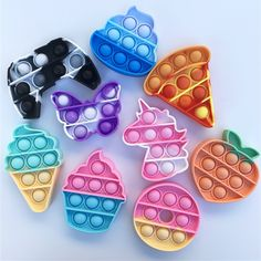Cool Fidget Toys, Cool Toys, Pop It Toy, Figet Toys, Pop Bubble, Bubble Wrap, Stress Toys, Squishies, Purple Butterfly