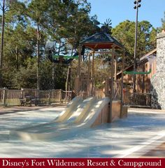 Disney World for Kids - Kiddie pool & wet play area at Disney's Fort Wilderness Campground & Resort at Disney World in Florida. For more Fort Wilderness photos & information, see: http://www.buildabettermousetrip.com/disneys-fort-wilderness