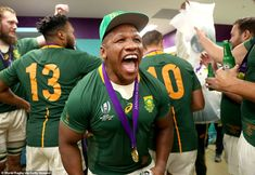 Prince Harry congratulates South African rugby team on their World Cup final victory over England Cycling Quotes, Cycling Art, Women's Cycling Jersey, Cycling Jerseys, South African Rugby, Smocking Patterns, World Cup Final, Bicycle Design, Extreme Sports
