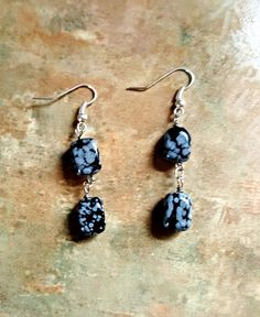Dalmatian Jasper Earrings by WolfMountainJewelry on Etsy  10.00