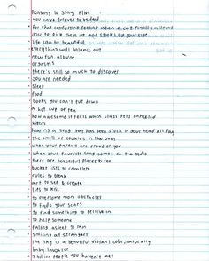 Matthew Gray Gubler's reasons to stay alive (very disappointed this doesn't go to an actual link.