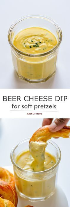 Homemade pretzels are incomplete without a pub-style cheese dip to dunk into. This beer cheese dip is so creamy and delicious that it will make every bite of homemade soft pretzels even more delici. Pretzel Dip Recipes, Pretzels Recipe, Appetizer Recipes, Appetizers, Cheese Dip For Soft Pretzels, Homemade Soft Pretzels, Homemade Cheese Dip, Pretzel Cheese, Homemade Butter