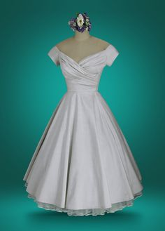 Tea Length Wedding Dresses Are Our Specialty. Discover the Finest Workmanship and Most Vintage-Authentic Fabrics and custom Detailing