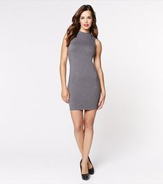 Mock Neck Bodycon Dress - $15