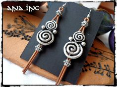 Silver spiral Tribal earrings Native Indian Earrings by anainc, $32.00