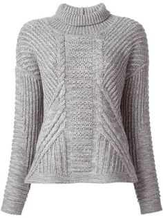 Duffy Cable Knit turtle-neck sweater