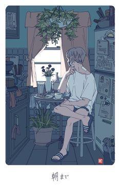 42 Super Ideas For Anime Art Aesthetic Boy Art Anime, Anime Kunst, Manga Anime, Art And Illustration, Art Illustrations, Pretty Art, Cute Art, Aesthetic Art, Aesthetic Anime