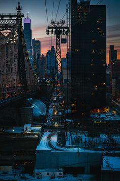"""Quiet Metropolis"" - sunset, New York City"