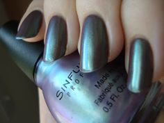 Sinful Colors Rain Song over Graine De Poivre (deep greyed-brown taupe).  I have to find this!   Pretty Girl Science: My Picks from Sinful Colors Country Charmer/Country Chic