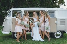With the gals!! Love this image of Chantelle with her beautiful bridesmaids. Chantelle wears our Hollie dress | Grace Loves Lace. www.graceloveslace.com.au