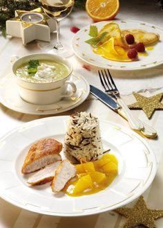 Hähnchenbrust mit Wildreis und Orangensauce - Hauptgericht zum foodies-Weihnachtsmenü schnelle Küche