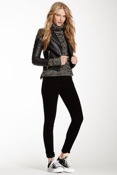 I might have a similar sweater, i have sone skinny jeans, jut need some black chucks and a jacket. :-)