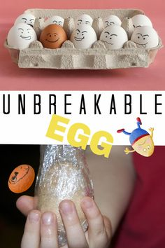Easy science magic trick where you can make an unbreakable egg. All you need is an egg and cling film. Stem Science, Easy Science, Physical Science, Science For Kids, Science Activities, Educational Activities, Science And Technology, Biology For Kids, Chemistry For Kids