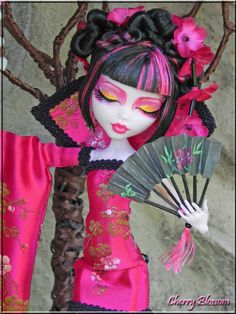 ~Cherry Blossom~Exquisite Custom OOAK Japanese Monster High Draculaura doll Art…
