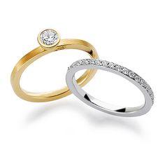 Обручальные кольца из золота с бриллантами, Art.Nr. 1 - 29682/2, 2 - 29683/2