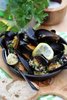 "Mussels with Hazelnut Gremolata. This could easily be made into a ""Pasta"" dish by pouring over Zucchini ""Noodles""."