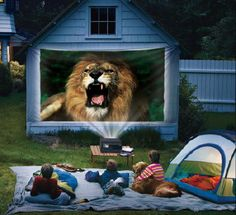 summer family fun - movie outside