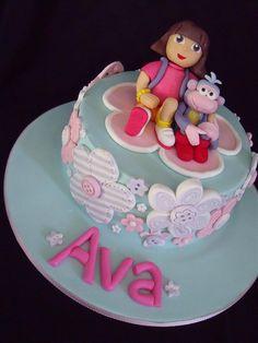 Dora cake by cake by kim, via Flickr